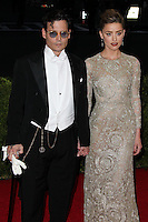 "NEW YORK CITY, NY, USA - MAY 05: Johnny Depp, Amber Heard at the ""Charles James: Beyond Fashion"" Costume Institute Gala held at the Metropolitan Museum of Art on May 5, 2014 in New York City, New York, United States. (Photo by Xavier Collin/Celebrity Monitor)"