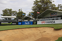 The 18th green during the Preview of the ISPS Handa World Super 6 Perth at Lake Karrinyup Country Club on the Wednesday 7th February 2018.<br /> Picture:  Thos Caffrey / www.golffile.ie<br /> <br /> All photo usage must carry mandatory copyright credit (&copy; Golffile | Thos Caffrey)