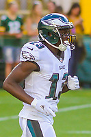 Philadelphia Eagles wide receiver Nelson Agholor (13) during a preseason football game against the Green Bay Packers on August 10, 2017 at Lambeau Field in Green Bay, Wisconsin. Green Bay defeated Philadelphia 24-9.  (Brad Krause/Krause Sports Photography)