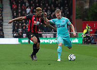 Bournemouth's Jordon Ibe (left) battles with Newcastle United's Matt Ritchie (right) <br /> <br /> Photographer David Horton/CameraSport<br /> <br /> The Premier League - Bournemouth v Newcastle United - Saturday 16th March 2019 - Vitality Stadium - Bournemouth<br /> <br /> World Copyright © 2019 CameraSport. All rights reserved. 43 Linden Ave. Countesthorpe. Leicester. England. LE8 5PG - Tel: +44 (0) 116 277 4147 - admin@camerasport.com - www.camerasport.com