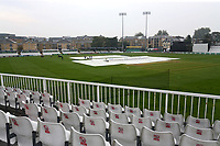 The covers are on the square as rain falls ahead of Essex CCC vs Yorkshire CCC, Specsavers County Championship Division 1 Cricket at The Cloudfm County Ground on 25th September 2017