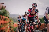 Dylan Teuns (BEL/BMC) up La Redoute<br /> <br /> 104th Li&egrave;ge - Bastogne - Li&egrave;ge 2018 (1.UWT)<br /> 1 Day Race: Li&egrave;ge - Ans (258km)