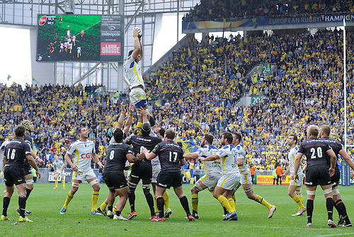 18.04.2015. Clermont-Ferrand, Auvergne, France. Champions Cup rugby semi-final between ASM Clermont and Saracens.   Sebastien Vahaamahina (asm)
