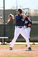 Daniel Killian #23 of the San Diego Padres plays in minor league spring training game against the Texas Rangers at the Rangers minor league complex on March 26, 2011  in Surprise, Arizona. .Photo by:  Bill Mitchell/Four Seam Images.