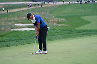 Brooks Koepka (USA) on the 18th green during the final round at the PGA Championship 2019, Beth Page Black, New York, USA. 20/05/2019.<br /> Picture Fran Caffrey / Golffile.ie<br /> <br /> All photo usage must carry mandatory copyright credit (© Golffile | Fran Caffrey)