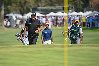 Phil Mickelson (USA) approaches the 9th green to the cheers of the crowd during round 4 of the World Golf Championships, Mexico, Club De Golf Chapultepec, Mexico City, Mexico. 3/4/2018.<br /> Picture: Golffile | Ken Murray<br /> <br /> <br /> All photo usage must carry mandatory copyright credit (&copy; Golffile | Ken Murray)