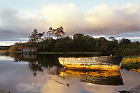 Evening sun on Carrowbeg River, Westport, Mayo, Ireland