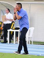 BARRANCABERMEJA-COLOMBIA, 03-02-2020: Diego Corredor, técnico de Deportivo Pasto, durante partido Alianza Petrolera y Deportivo Pasto, de la fecha 3 por la Liga BetPlay DIMAYOR I 2020 en el estadio Daniel Villa Zapata en la ciudad de Barrancabermeja. / Diego Corredor, coach of Deportivo Pasto, during a match between Alianza Petrolera and Deportivo Pasto, of the 3rd date for the BetPlay DIMAYOR Leguaje I 2020 at the Daniel Villa Zapata stadium in Barrancabermeja city. Photo: VizzorImage  / José D. Martínez / Cont.