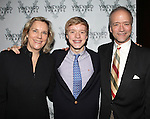 Douglas McGrath with wife Jane Read Martin and son attending the Opening Celebration for 'Checkers' at the Vineyard Theatre in New York City on 11/11/2012