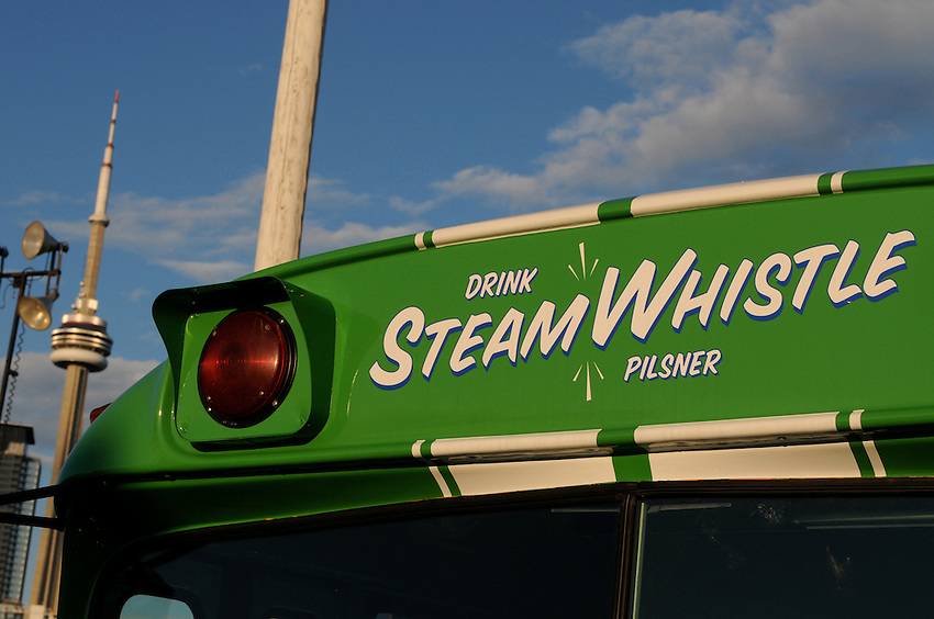 Steamwhistle Brewery Schoolbus at The Toronto Beer Festival, July 2008