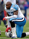 24 December 2006: Tennessee Titans linebacker Keith Bulluck  warms up prior to a game against the Buffalo Bills at Ralph Wilson Stadium in Orchard Park, New York. The Titans edged out the Bills 30-29.&amp;#xA; &amp;#xA;Mandatory Photo Credit: Ed Wolfstein Photo<br />