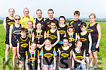 The Farranfore/Maine Valley team at the Kerry Cross Country championships in Firies on Sunday