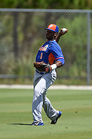 New York Mets Ivan Wilson (1) during practice before a minor league spring training game against the St. Louis Cardinals on April 1, 2015 at the Roger Dean Complex in Jupiter, Florida.  (Mike Janes/Four Seam Images)