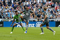 St. Paul, MN - Saturday May 4, 2019: Minnesota United FC played Seattle Sounders FC played to a 1-1 tie during their Major League Soccer (MLS) match at Allianz Field.
