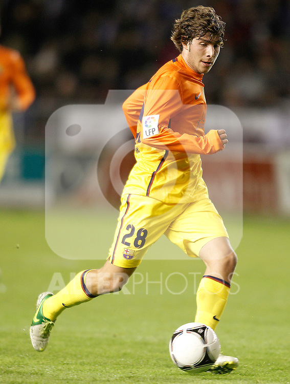 FC Barcelona's Sergi Roberto during Spanish King's Cup match.October 30,2012. (ALTERPHOTOS/Acero)