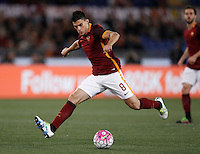 Calcio, Serie A: Roma vs Bologna. Roma, stadio Olimpico, 11 aprile 2016.<br /> Roma&rsquo;s Diego Perotti in action during the Italian Serie A football match between Roma and Bologna at Rome's Olympic stadium, 11 April 2016.<br /> UPDATE IMAGES PRESS/Isabella Bonotto