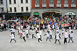 Pupils from St Mary's boys National school Congress Ave dancing at the Samhrain festival. Photo: www.pressphotos.ie