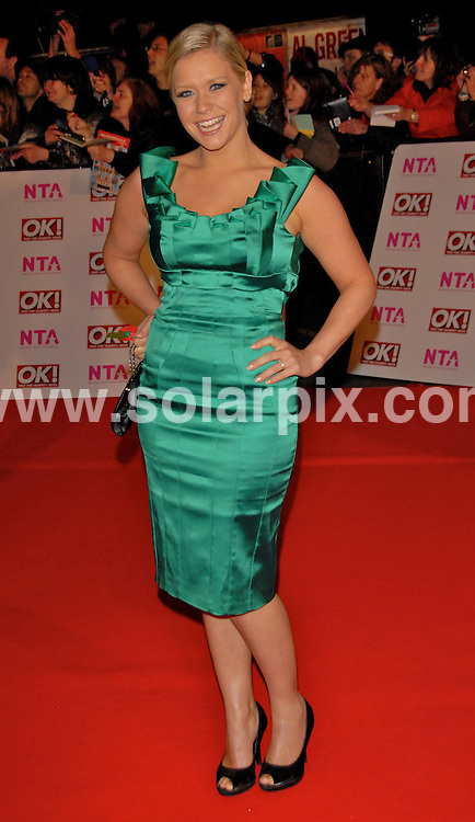 **ALL ROUND PICTURES FROM SOLARPIX.COM**.**WORLDWIDE SYNDICATION RIGHTS**.Celebrities arrive for the National TV Awards, at the Royal Albert Hall, London, UK. 29th October 2008 ..This pic: Suzanne Shaw..JOB REF: 7759 BTT DATE: 29_10_2008.**MUST CREDIT SOLARPIX.COM OR DOUBLE FEE WILL BE CHARGED* *UNDER NO CIRCUMSTANCES IS THIS IMAGE TO BE REPRODUCED FOR ANY ONLINE EDITION WITHOUT PRIOR PERMISSION*