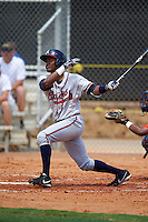 GCL Braves second baseman Ronny Guillermo (5) at bat during a game against the GCL Astros on July 23, 2015 at the Osceola County Stadium Complex in Kissimmee, Florida.  GCL Braves defeated GCL Astros 4-2.  (Mike Janes/Four Seam Images)