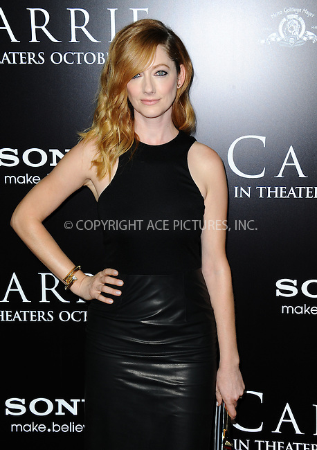 WWW.ACEPIXS.COM<br /> <br /> October 7 2013, LA<br /> <br /> Judy Greer arrives at the premiere of  'Carrie' at ArcLight Cinemas on October 7, 2013 in Hollywood, California.<br /> <br /> By Line: Peter West/ACE Pictures<br /> <br /> <br /> ACE Pictures, Inc.<br /> tel: 646 769 0430<br /> Email: info@acepixs.com<br /> www.acepixs.com