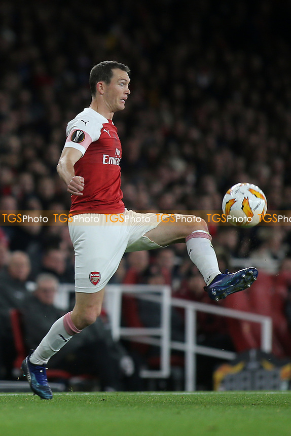 Stephan Lichtsteiner of Arsenal in action during Arsenal vs Sporting Lisbon, UEFA Europa League Football at the Emirates Stadium on 8th November 2018