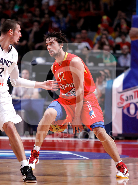 Spain's Sergio Llull during friendly match.July 9,2012.(ALTERPHOTOS/Alconada)