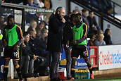 3rd October 2017, The Abbey Stadium, Cambridge, England; Football League Trophy Group stage, Cambridge United versus Southampton U21; Cambridge United Manager Shaun Derry sends in instructions