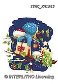 Marcello, CHRISTMAS ANIMALS, WEIHNACHTEN TIERE, NAVIDAD ANIMALES, paintings+++++,ITMCXM1983,#XA# ,owls