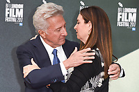 "Dustin Hoffman and wife Lisa<br /> arriving for the London Film Festival 2017 screening of ""The Meyerowitz Stories"" at the Embankment Gardens Cinema, London<br /> <br /> <br /> ©Ash Knotek  D3319  06/10/2017"