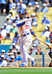 24 July 2011: Los Angeles Dodgers outfielder Matt Kemp in action against the Washington Nationals at Dodger Stadium in Los Angeles, California. The Dodgers defeated the Nationals 3-1 to take the rubber match of their three game series. Mandatory Credit: Ed Wolfstein Photo