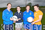 Four of the Laune Rangers Kerry Senior ladies footballers who were  practicing the hand pass while in training for the Munster Senior  Ladies Championship Final on Wednesday evening at The ITT North Campus, Tralee. L-r: Edel Murphy, Sarah Houlihan, Patrice Dennehy and Steffi Corkery.  ............