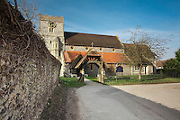 Parish Church of St Mary in Streatley, Berkshire, Uk