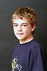 Portrait of boy aged 12 UK