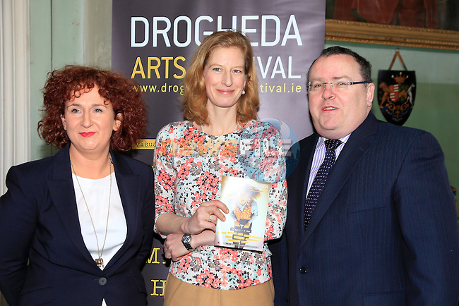 Aoife Ruane Cara konig Brock and Simon McCormack at the Launch of the Droichead arts festival in Beaulieu House.<br /> Picture: www.newsfile.ie