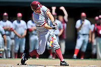 02 June 2008:  Stanford Cardinal Cord Phelps (16) during Stanford's 9-7 win over the Pepperdine Waves in the NCAA Stanford Regional final game at Klein Field at Sunken Diamond in Stanford, CA.