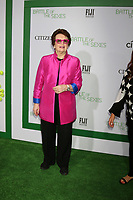 """LOS ANGELES - SEP 16:  Billie Jean King at the """"Battle of the Sexes"""" LA Premiere at the Village Theater on September 16, 2017 in Westwood, CA"""
