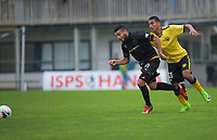 Team Wellington's Mario Barcia and Wellington Phoenix's Ahmed Othman chase the ball during the ISPS Handa Premiership football match between Team Wellington and Wellington Phoenix Reserves at David Farrington Park in Wellington, New Zealand on Sunday, 17 November 2019. Photo: Dave Lintott / lintottphoto.co.nz