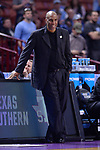 GREENVILLE, SC - MARCH 17: Head coach Mike Davidson of Texas Southern University watches the on-court action during the 2017 NCAA Men's Basketball Tournament held at Bon Secours Wellness Arena on March 17, 2017 in Greenville, South Carolina. (Photo by Grant Halverson/NCAA Photos via Getty Images)