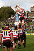 Jamie Chipman taps back lineout ball. ITM Cup rugby game between Counties Manukau Steelers and Northland, played at Bayer Growers Stadium, Pukekohe, on Sunday September 26th 2010..The Counties Manukau Steelers won 40 - 24 after leading 27 - 7 at halftime.