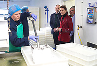 08 May 2019 - Wales, UK - Prince William Duke of Cambridge and Kate Duchess of Cambridge, Katherine, Catherine Middleton during a visit to Halen Mon Anglesey Sea Salt on the Isle of Anglesey in Wales. Here the Duke and Duchess are be being shown the salt making process from hand harvesting to packaging. Photo Credit: ALPR/AdMedia