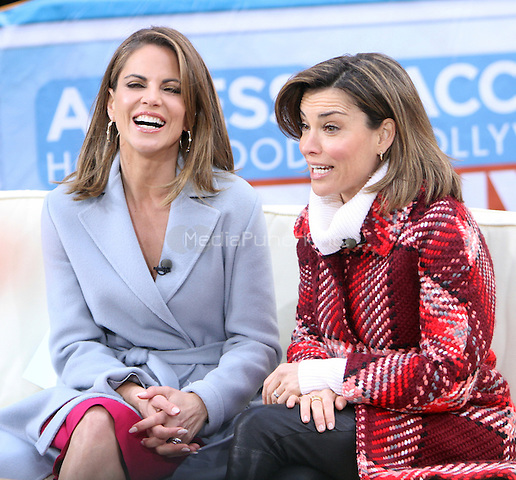 NEW YORK, NY - JANUARY 25: Natalie Morales and Kit Hoover pictured on the set of Access Hollywood in New York City on January 25, 2017. Credit: RW/MediaPunch