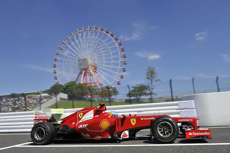 .Fernando Alonso (ESP),  Scuderia Ferrari ..2012 FIA Formula One World Championship - Japanese Grand Prix - Suzuka Circuit - Suzuka - Japan - Friday 5th October 2012...