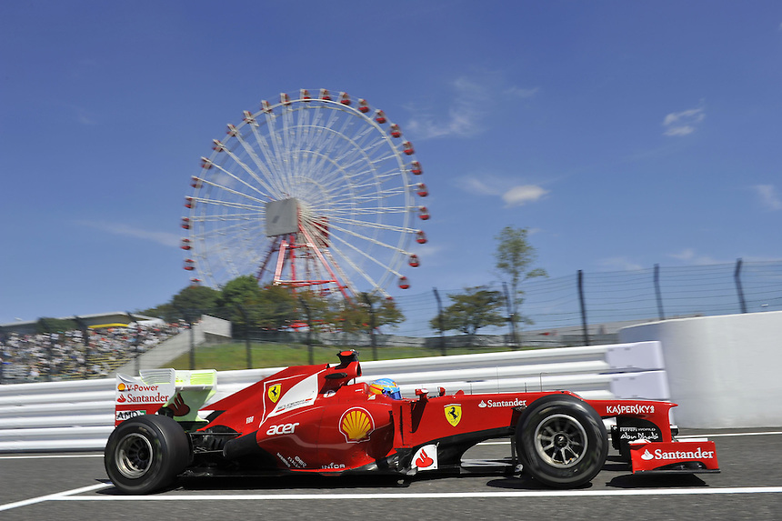 .Fernando Alonso (ESP),  Scuderia Ferrari ..2012 FIA Formula One World Championship - Japanese Grand Prix - Suzuka Circuit - Suzuka - Japan - Friday 5th October 2012...