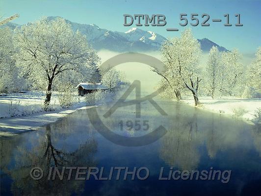 Gerhard, CHRISTMAS LANDSCAPE, photos, BY.Wintertag an der Loisach.Herzogstand(DTMB552-11,#XL#) Landschaften, Weihnachten, paisajes, Navidad