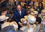 Egyptian President Abdel Fattah al-Sisi performs the morning prayer of Eid al-Fitr holiday which marks the end of the Muslim holy month of Ramadan, in Cairo, Egypt, on June 15, 2018. Eid al-Fitr marks the end of Muslim's holy fasting month of Ramadan when faithfuls abstain from eating, drinking, smoking and sexual activities from dawn to dusk. Photo by Egyptian President Office