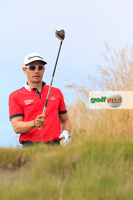 Camilo Villegas (COL) on the 16th tee during Thursday's Round 1 of the 2015 U.S. Open 115th National Championship held at Chambers Bay, Seattle, Washington, USA. 6/19/2015.<br /> Picture: Golffile   Eoin Clarke<br /> <br /> <br /> <br /> <br /> All photo usage must carry mandatory copyright credit (&copy; Golffile   Eoin Clarke)