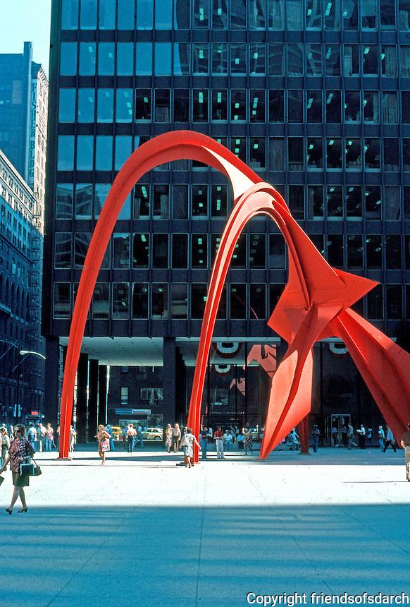 "Alexander Calder: Stabile, ""Flamingo"". Federal Building, Chicago.  Photo '76."