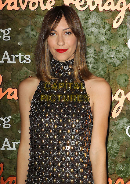 Gia Coppola<br /> Wallis Annenberg Center For The Performing Arts Inaugural Gala held at Wallis Annenberg Center For The Performing Arts,  Beverly Hills, California, USA, 17th October 2013.<br /> half length black gold dress high neck embellished jewelled <br /> CAP/ADM/KB<br /> &copy;Kevan Brooks/AdMedia/Capital Pictures