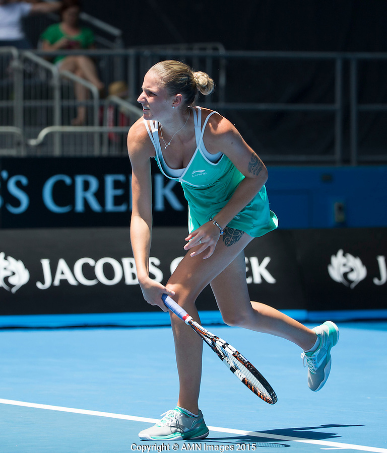Karolina Pliskova (CZE)<br /> <br /> Tennis - Australian Open 2015 - Grand Slam -  Melbourne Park - Melbourne - Victoria - Australia  - 21 January 2015. <br /> &copy; AMN IMAGES