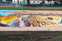 """Dustbowl Refugees"" Great Wall Mural, Los Angeles, CA, Tujunga Wash, Sub Watershed, San Fernando Valley, Los Angeles, CA"